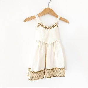 Wallalo's ivory Dress Preowned SIze 6-9 M used
